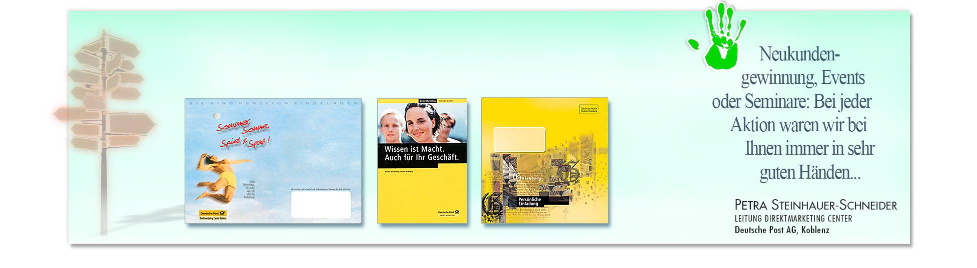 Zufriedener Kunde: POST AG wegen erfolgreiche Kampagnen derSchoellmann & Sie ist Werbeagentur, Marketingagentur, Gender Marketing, Webdesign, Personal Marketing, Employer Branding